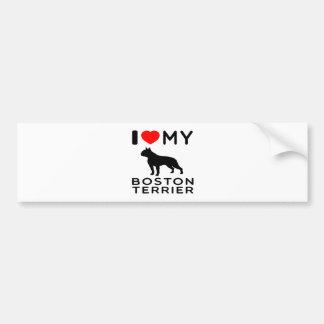 I Love My Boston Terrier. Bumper Sticker