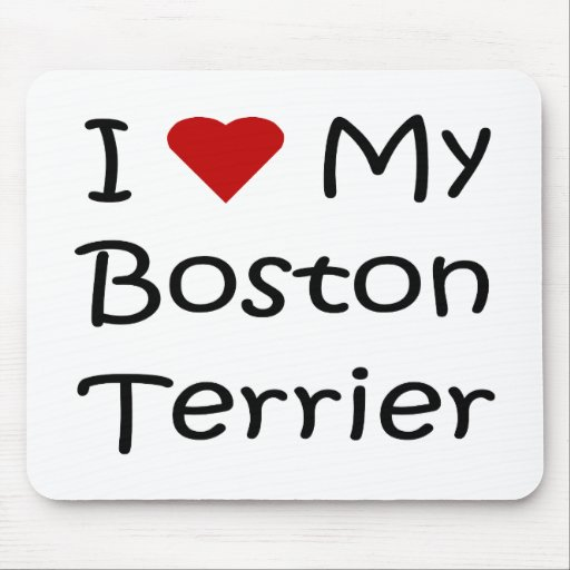 I Love My Boston Terrier Dog Lover Gifts Mouse Mat