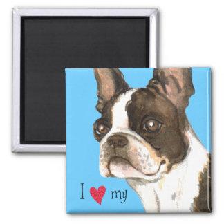 I Love my Boston Terrier Magnet
