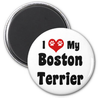 I Love My Boston Terrier Magnet