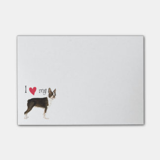 I Love my Boston Terrier Post-it Notes