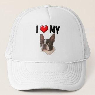 I Love My Boston Terrier Trucker Hat