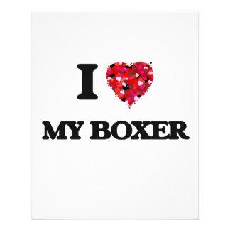 I love My Boxer 11.5 Cm X 14 Cm Flyer