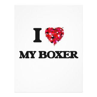 I love My Boxer 21.5 Cm X 28 Cm Flyer