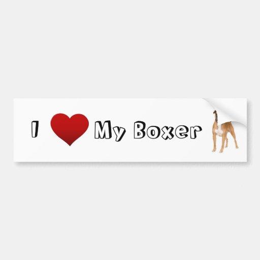 i love my boxer (2) bumper stickers