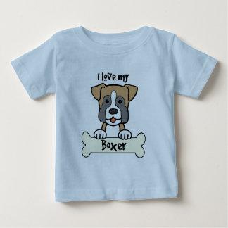 I Love My Boxer Baby T-Shirt