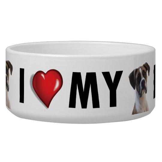 I Love My Boxer Dog Bowl - Dog