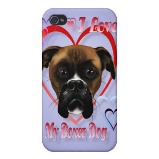 I Love My Boxer Dog  iPhone 4 Cases