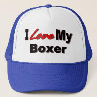 I Love My Boxer Dog Lover Merchandise Trucker Hat