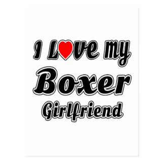 I Love My Boxer Girlfriend Post Cards