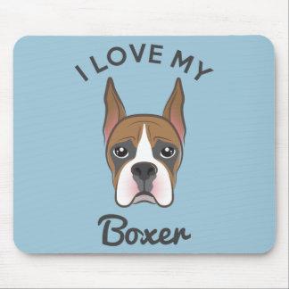 """I Love My Boxer"" Mousepad"