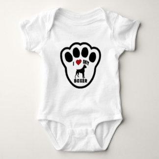 I love my Boxer Paw Print Baby Bodysuit