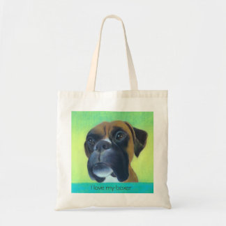 """I love my boxer"" Tote Bag"