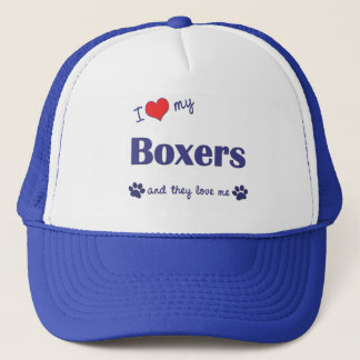 I Love My Boxers (Many Dogs) Trucker Hat