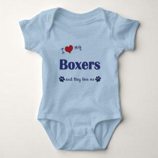I Love My Boxers (Multiple Dogs) Baby Bodysuit