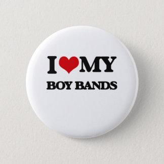 I Love My BOY BANDS 6 Cm Round Badge
