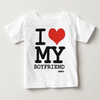 i love my boyfriend baby T-Shirt