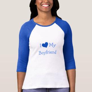 I Love My Boyfriend Baseball Jersey T-Shirt