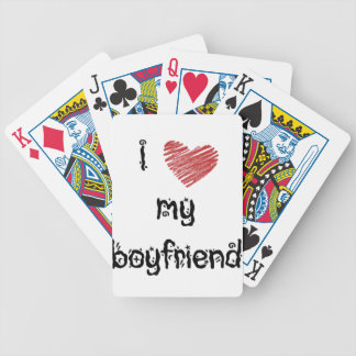 I love my boyfriend bicycle poker deck