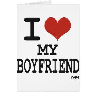 I love my boyfriend cards