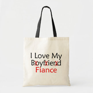 I Love My Boyfriend Fiance Tote Bag