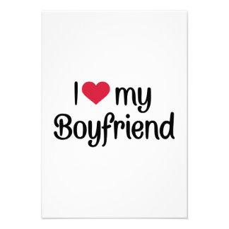 I love my boyfriend custom invite