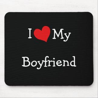 I Love My Boyfriend Mousepad