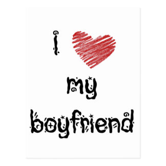 I love my boyfriend postcard
