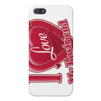 I Love My Boyfriend red - heart iPhone 5 Cover