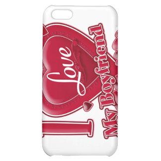 I Love My Boyfriend red - heart iPhone 5C Covers