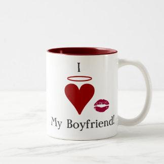 I love my boyfriend Two-Tone mug