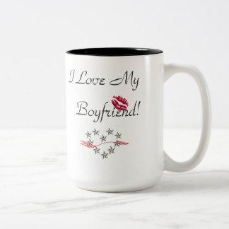 I Love My Boyfriend! Two-Tone Mug