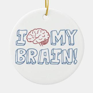 I Love My Brain Christmas Ornament
