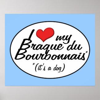 I Love My Braque du Bourbonnais (It's a Dog) Poster