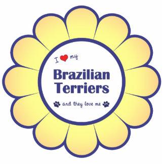 I Love My Brazilian Terriers (Multiple Dogs) Photo Sculpture Decoration