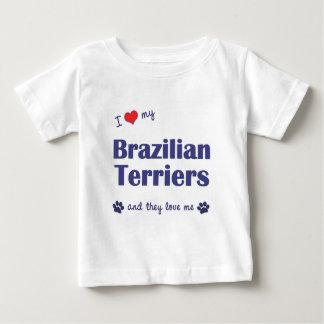 I Love My Brazilian Terriers (Multiple Dogs) T Shirt