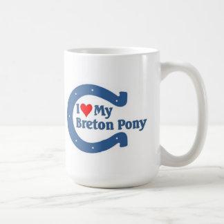 I love my Breton Pony Basic White Mug