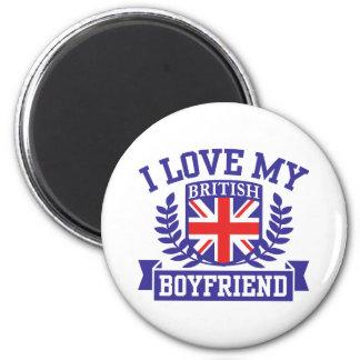 I Love My British Boyfriend 6 Cm Round Magnet