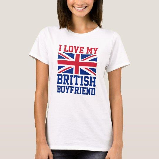 I Love My British Boyfriend UK Flag Ladies