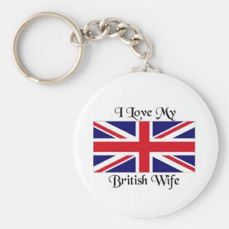 I love my British wife Key Ring