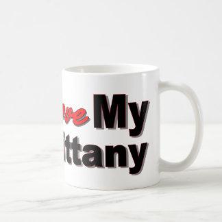I Love My Brittany Basic White Mug