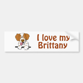 I Love My Brittany Spaniel Dog Lover Template Bumper Stickers