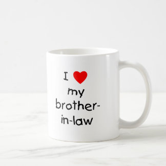 I Love My Brother-in-Law Basic White Mug