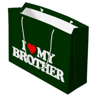 I LOVE MY BROTHER LARGE GIFT BAG