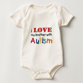 I love my brother with Autism Baby Bodysuit
