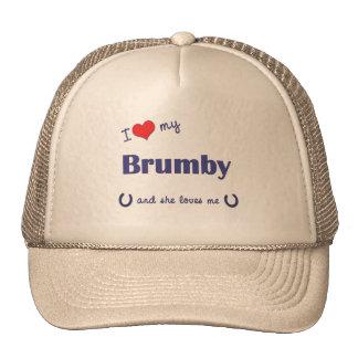 I Love My Brumby (Female Horse) Cap