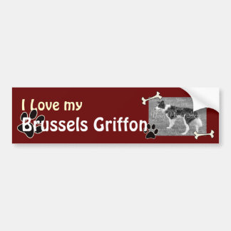 I love my Brussels Griffon Bumper Sticker