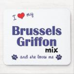 I Love My Brussels Griffon Mix (Female Dog) Mousepad