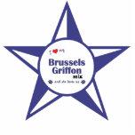 I Love My Brussels Griffon Mix (Female Dog) Cut Outs