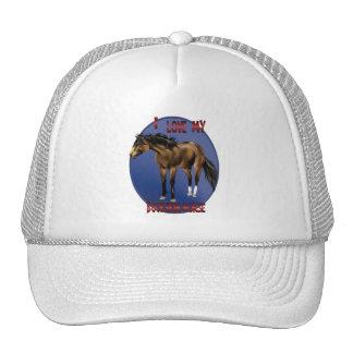 I Love My Bucksin Horse Hat
